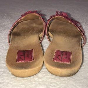 2fdd1b7086e752 Clarks Shoes - Clarks Artisan Pink Flower Sandals Size 8.5